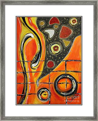 The Fires Of Charged Emotions Framed Print by Jolanta Anna Karolska