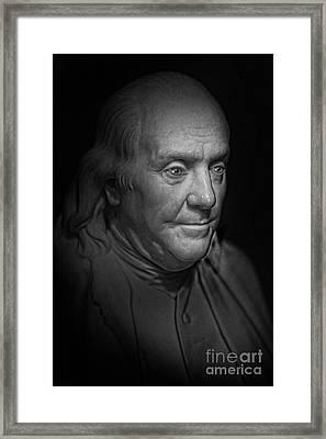 The First American - Benjamin Franklin Framed Print by Lee Dos Santos