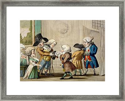 The First Approach, C.1790 Framed Print by Carlo Lasinio