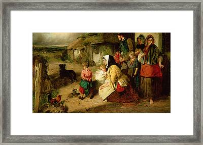 The First Break In The Family Framed Print by Thomas Faed