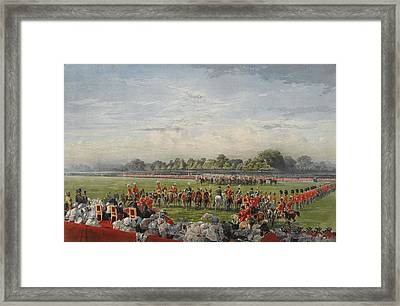 The First Distribution Of The Vc Framed Print by George Housman Thomas