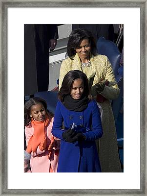The First Lady And Daughters Framed Print by JP Tripp