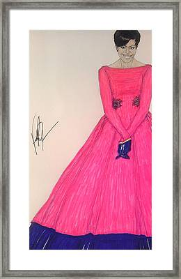 The First Lady/ Michelle Obama Framed Print by Vicki  Jones