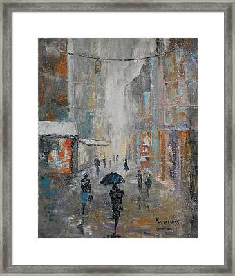 The First Snow Framed Print by Maria Karalyos