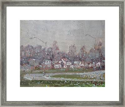 The First Snowflakes Of The Season  Framed Print by Ylli Haruni