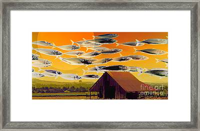 The Fish Farm 5d24404 Long Framed Print by Wingsdomain Art and Photography