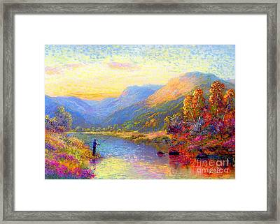 Fishing And Dreaming Framed Print by Jane Small