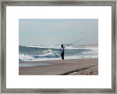 The Fisherman Framed Print by Sean Conklin