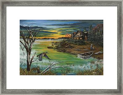The Fisherman's Protege Framed Print by Jim Olheiser