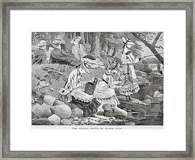 The Fishing Party Framed Print by Winslow Homer