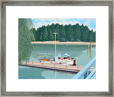 The Converted Fishing Trawler Gulvik Framed Print by Gary Giacomelli