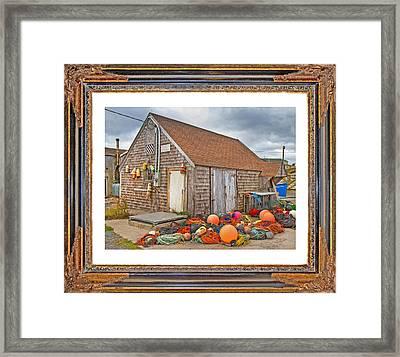 The Fishing Village Scene Framed Print by Betsy Knapp