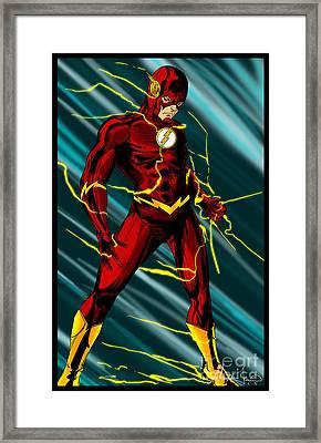 The Flash Framed Print by Alexiss Jaimes