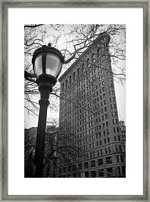 The Flatiron Building In New York City Framed Print by Ilker Goksen