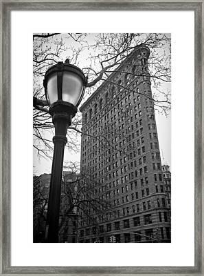 The Flatiron Building In New York City Framed Print by Ilker Goksen