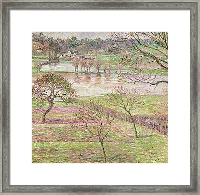 The Flood At Eragny Framed Print by Camille Pissarro