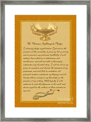 The Florence Nightingale Pledge Framed Print by Chris MacDonald