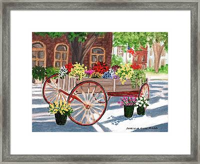 The Flower Cart Framed Print by Patricia Ann Rizzo