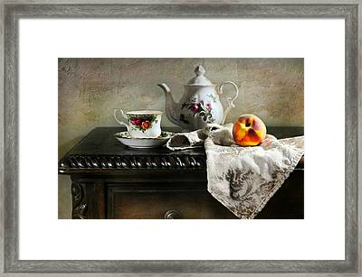 The Flower Teapot Framed Print by Diana Angstadt