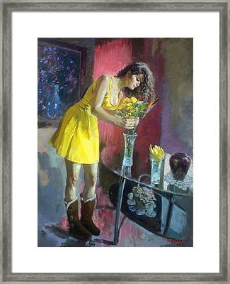 The Flowers Framed Print by Ylli Haruni