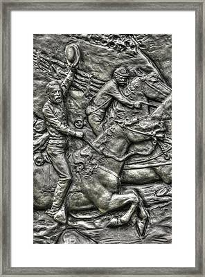 The Flying Battery Detail-f 6th New York Independent Battery Horse Artillery Gettysburg Autumn Framed Print by Michael Mazaika