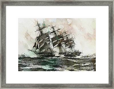 The Flying Dutchman Framed Print by Dragica  Micki Fortuna