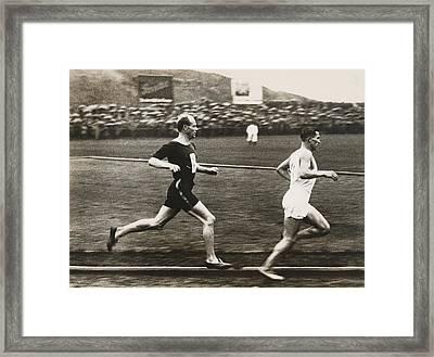 The Flying Finn Framed Print by Underwood Archives