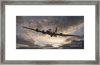 The Flying Fortress Framed Print by J Biggadike