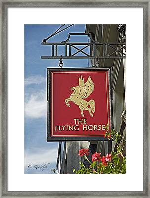 The Flying Horse Framed Print by Cheri Randolph