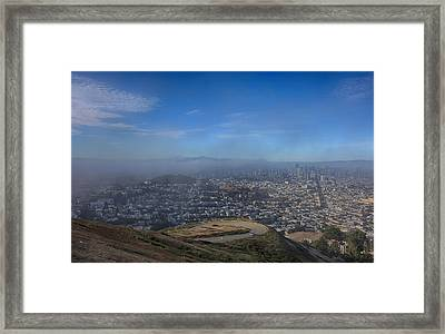 The Fog Is Rolling In Framed Print by Laurie Search