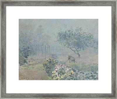 The Fog, Voisins, 1874 Framed Print by Alfred Sisley