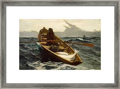 The Fog Warning Framed Print by Winslow Homer