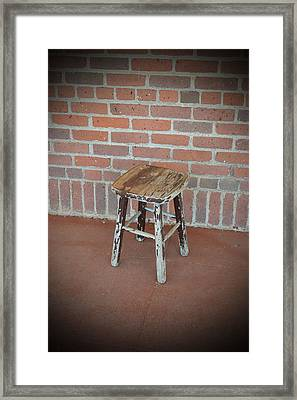 The Foot Stool Framed Print by Holly Blunkall