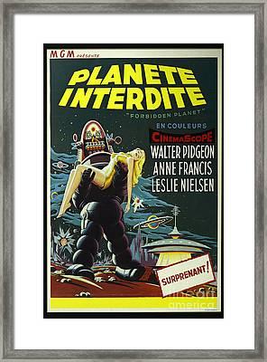 The Forbidden Planet Vintage Movie Poster Framed Print by Bob Christopher