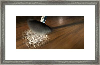 The Forensic Closeup Framed Print by Allan Swart