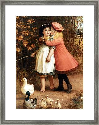 The Foster Sisters Framed Print by Philip Richard Morris