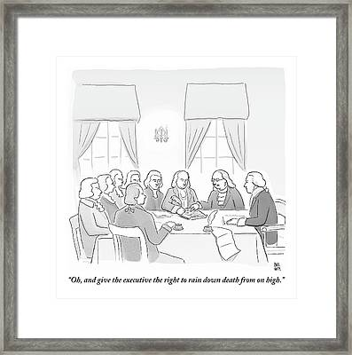 The Founding Fathers Drafting The Constitution Framed Print by Paul Noth