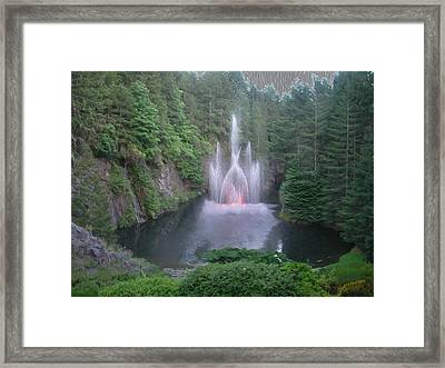 The Fountain Framed Print by John M Bailey