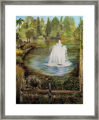 The Fountain Framed Print by Arlen Avernian Thorensen