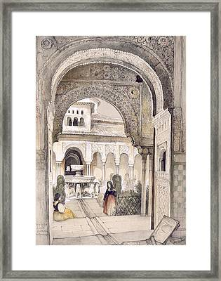 The Fountain Of The Lions Framed Print by John Frederick Lewis