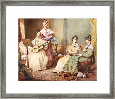 The Four Daughters Of Archbishop Framed Print by George Richmond