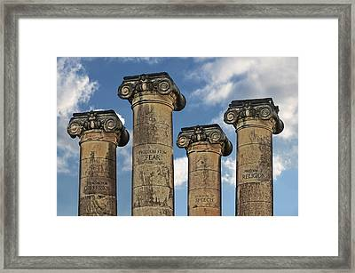 The Four Freedoms Framed Print by Steven  Michael