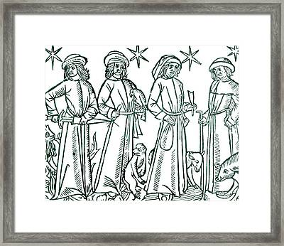 The Four Humours Framed Print by Universal History Archive/uig