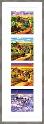 The Four Seasons Vertical Format Framed Print by Robin Moline