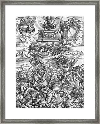 The Four Vengeful Angels Framed Print by Albrecht Durer or Duerer