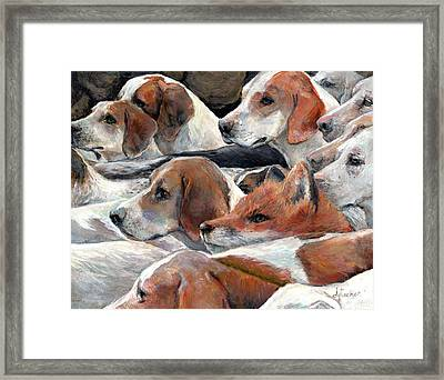Fox Play Framed Print by Donna Tucker