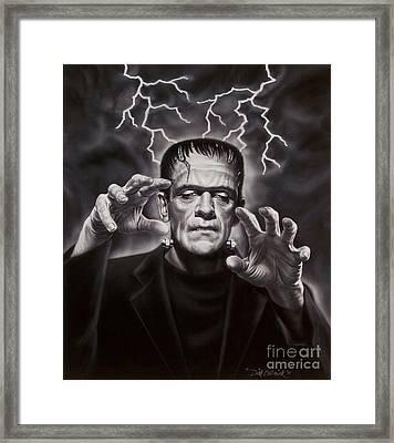 The Frankenstein Monster Framed Print by Dick Bobnick