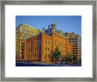 The Franklin School - Washington Dc Framed Print by Mountain Dreams