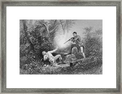 The Fratricide At Wyoming Framed Print by James Charles Armytage