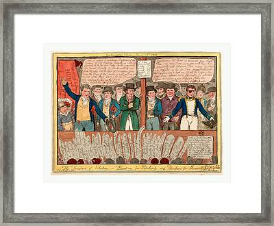 The Freedom Of Election Or Hunt-ing For Popularity Framed Print by English School